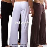 yoga pantolon iç çamaşırı toptan satış-Erkekler için 1 adet toptan erkek uyku dipleri eğlence seksi pijama Manview yoga uzun pantolon külot iç çamaşırı pantolon ücretsiz kargo
