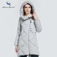 Wholesale Duck Collection - Wholesale- Athena Special 2017 New Winter Collection Brand Fashion Bio Down Thick Women Jacket Hooded Women Parkas Coats Plus Size 5XL 6XL