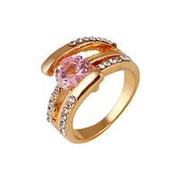 Wholesale Cheap Pink Engagement Rings - Discount Cheap Romantic Pink Diamond Engagement Rings Gorgeous Solitaire Engagement Rings New Arrival 2015 New Design