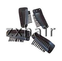 Wholesale Hair Extensions Toupee Wig Clips - 20 Pcs Large Toupee Wig Clip Hair Extension Brown