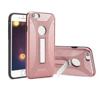 Wholesale Iphone Case Warrior - 2 in 1 Hybrid Warrior Kickstand Case TPU PC Shockproof for iphone X 8 7 6s plus Samsung Note8 s8 plus A3 A5 A7 2017 J3 J5 J7 Pro OppBag