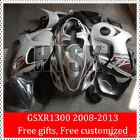 Wholesale Hayabusa Aftermarket Fairings - Aftermarket ABS Fairings Of Suzuki GSX-R1300 08 09 10 11 12 13 GSXR1300 2008 2009 2010 2011 2012 2013 GSXR 1300 Hayabusa Body Cover White