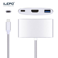 USB 3.1 Tipo C para adaptador HDMI USB3.0 para Apple Novo Macbook Projetor Dispositivo de TV Conversor de vídeo Conector tipo-c hub