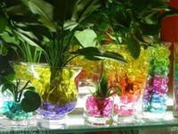 wasserschlammperlen großhandel-40KGS Wasserperlenperlen 13 Farben Ihre Wahl Kristallbodenschlamm Magic Plant Jelly Wasserabsorbierender Kristall, Polymer, erdfeucht MED