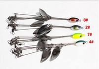 Wholesale Bass Rigs - Alabama Rig 5 Arms Fishing Lure Umbrella Fishing Bait 4pcs lot 16cm with 4 Blades Spinner Bait Swivel Lure Bait Bass Fishing