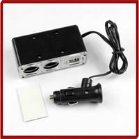 Wholesale Auto Cigarette Adapter - nterior Accessories Cigarette Lighter W110Promotion Double USB Port 2 Way Car Splitter Cigarette Lighter Auto Socket Charger Adapter Free...
