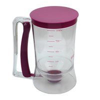 dispensador de medidas al por mayor-Venta al por mayor-900ml de plástico Pancake Cupcake Batter Dispenser Cake Mix Lanzamiento de medición Jarra de cocina Herramientas de cocina
