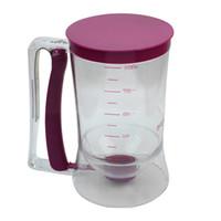 küchenkunststoffe großhandel-Wholesale- 900ml Kunststoff-Pancake-Kuchen-Teig-Dispenser-Kuchen-Mix Messmitteilung Jug Küche, die Werkzeug