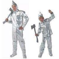 Wholesale Oz Costumes - New arrival Halloween Tin Man clothing Men and Boys The wizard of oz Tin vestidos man clothing
