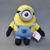 """Wholesale Minions Stuffed Animals Wholesale - Wholesale-Free Shipping EMS 100 Lot GENUINE Despicable Me Minions Plush Toys Doll 3D Eye Stuffed Animals Doll Movie Toys 5.5"""""""