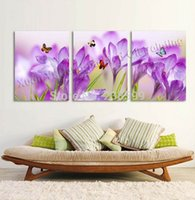 Wholesale Oil Picture Flower - Canvas Painting Pictures Oil Painting Home Decoration Canvas Butterfly Flower Art Wall Pictures For Living Room Free Shipping