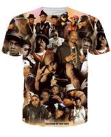 Wholesale Men V Neck Tshirts - tshirts Rock t shirt print Crewneck tupac Biggie Smalls t shirt Casual Unisex women men Hip hop tee shirt 3d character t-shirt