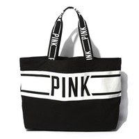 Wholesale Zipper Side Bag - 2018 New arrival pink large capacity totes bags Canvas fabric shopping bags one-side shoulder bags free shipping