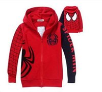 Wholesale Wholesale Clothes Online Kid - 2016 Real Jackets Boy Spring   Autumn Unlined Wholesale Cheap Online New Winter Jacket Kids Spider Man Clothes Boys Outfits Sets Hooded Coat