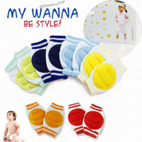 Wholesale Baby Legging Green - 6 Colors Stylish 1 Pair Kids Safety Crawling Elbow Cushion Infants Toddlers Baby Knee Pads Protector Leg Warmers Baby Kneecap