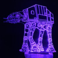 Wholesale Empire Lamps - Wholesale-Free Shipping 1Piece The Empire Strikes Back ! Imperial Walker AT-AT Table Lamp LED Bulbing Light 3D Engraving