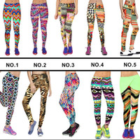 Wholesale Plus Size Active Wear - New High Waist Floral Leggings Stretchy Full Length Plus Size Gym Sport Leggings Fashion Flower Casual Workout Wear Fitness Pants