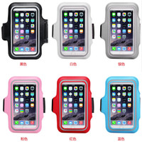 Wholesale Iphone Sport Case Strap - Armbands Waterproof Leather Sports Running Armband Case Belt Wrist Strap GYM Arm Band Coverfor iPhone 6 6S Plus 5.5 inch MOQ:10pcs