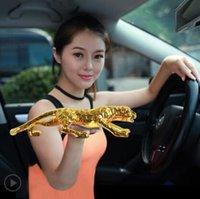 leopar malzemeleri toptan satış-Leopard // Araba dekorasyon / para kazanmak için istekli dilek // yaratıcı süslemeleri Araç Leopard // Araba malzemeleri erkek araba aksesuarları
