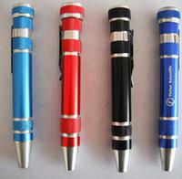 Wholesale E Cigarette Repair - 1000pcs,Free Shipping Slotted Phillips Bits Alloy Handle 8 in 1 Screwdriver Pen Set Repair Tools,slotted screw drivers e cigarette DIY tools