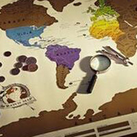 Wholesale Televisions For Wholesale Prices - 1Piece Scratch OFF MAP Travel Scratch Map 88x52 cm World Map whole sale price good quality hot selling