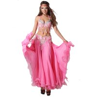 Wholesale Stage Performance Dance Wear Belly Dance Oriental Style Beads Clothing Set with Long Skirt Costumes Belly Dance