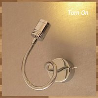 Wholesale Wall Mounted Bedside Lights - Minimalist Modern Reading Lights Bedside Quality CREE LED 3 Watts 200LM Flexible Arm Wall mounted on-off switch Chrome Finish