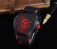 Wholesale design mens watches - Luxury Mens Women Brown Tachymeter Date Leather Sport Quartz Wrist Watch Fashion Swiss Design Drop Ship