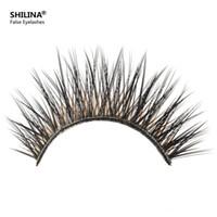 Wholesale Shilina Eyelashes - Wholesale-SHILINA 3050 Natural Mink False Eyelashes 1 pair Long Eyelash High Quality Fake Eye Lashes Extension Band Makeup Wholesale *