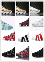 Wholesale Retro Big Red - BIG Air More Scottie Pippen Uptempo 96 Retro basketball shoes,wine all white all black black red black white colors