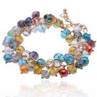 Wholesale Sunshine Dress - Wholesale-Sunshine Bohemian style colourful beads charm Bracelets Suit For Women gift Evening Dress fashion fine jewelry hot selling S174