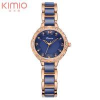 Wholesale Kimio Brand For Watch - New Arrival Kimio Brand Floral Watch Gold Bracelet Quartz Watch Simulation Ceramic Wrist Watch for Womenluxury watches