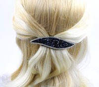 Femme Rhinestone Leaf Barrette Girl Crystal New Fashion Hair Jewellery High Quality Hair Clip Accessoires pour les gros