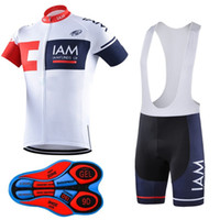 Wholesale Iam Cycling - New arrive 2017 iam Pro team Cycling Jersey Bib Short Pants With Gel Pad Ropa de Ciclismo Maillot Bike Wear Cycling Clothing Set