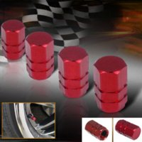 Wholesale Wholesale Atv Rims - 10 SETS Free Shipping Aluminum Alloy Wheel Tire Air Rim Valve Stem Caps For Car Truck ATV Bicycle Motorcycle Wheel Rim Red M9049