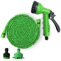 kunststoff-spritzdüsen großhandel-Garten-Bewässerungs-Ausrüstungs-Plastikmaterial-blaue grüne Wasser-Spray-Düsen-Sprühgeräte erweiterbarer flexibler Wasser-Schlauch-Garten-Rohr-Satz-Ausrüstung