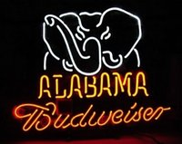 NCAA College Football AlabamaL Crimsons Tide Neon Sign Illuminazione Real Glass Tube Sport Sign Gioco Team Sign Pubblicità Display Sign 16