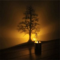 Wholesale Design Candles - Hot sale Creative LED Shadow Projection Night Light Chrismas Atmosphere Candle Decor Lamp 5 Designs Great kids Gift Xmas