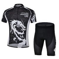 Wholesale Dragon Cycle Set - Free Shipping Bicycle Sport Suit Mountain Bike Clothing Set Dragon Maillot Cycling Bib Shorts Cycling Jersey For Men