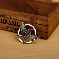 Wholesale Hunger Games Corsages - Movie Jewelry The Hunger Game Bird Mockingjay Brooches ancient bronze gold Pins Couple corsage brooch fashion jewelry 170221