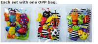Wholesale Ladybug Bee - wholesale-20pcs Lot baby rattle toys Garden Bug Wrist Rattle+Foot Socks bee ladybug watch and foot finder