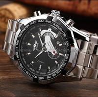 2a8a50a2768 Venda quente Vencedor Esqueleto Mecânico Automático Relógio de Data Homens  Relógios Mecânicos Pequenos Segundos Relógio De Pulso