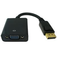 kostenloses macbook großhandel-DP zu vga kabel dp zu vga female adapter kabel für apple macbook air pro imac mac mini adapter kabel weiß versandkostenfrei