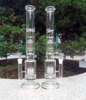 yeni vazo toptan satış-Yeni Petrol Kuleleri Cam Bongs Büyük Su Boru Ücretsiz nakliye Vazo Perc Percolator Sigara Piper 18mm Ortak Kalın Türbin Arms 45 CM Yükseklik
