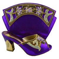 Wholesale Bag Shoes Price - Women New Fashion African Wedding Pumps Matching Bag Wholesale Price Party Shoes Heels And Bag Online Purple Royal Blue Gold Red