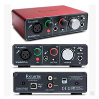 entrada de micro al por mayor-Nueva Hot Focusrite Scarlett Solo 2 entradas 2 salidas USB interfaz de audio Tarjeta de sonido profesional para grabar Micrófono Mic Guitarra