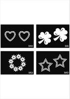 plantillas de pintura corporal kits de plantillas al por mayor-Envío gratis 500 hojas diseños mixtos plantillas de plantillas de tatuaje para el arte corporal pintura kits de tatuaje brillo