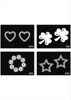 Wholesale Sheets For Glitter Tattoos - free shipping 500 sheets mixed designs tattoo Template Stencils for Body art Painting Glitter Tattoo kits