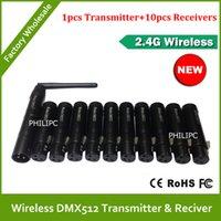 Wholesale Dmx 512 Wireless Dhl - DHL Free Shipping Good quality dmx wireless controller transmitter receiver dmx 512 wireless dmx