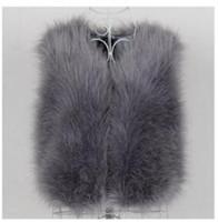 Wholesale Ostrich Vests - Wholesale-2015 autumn and winter ostrich wool turkey fur vest